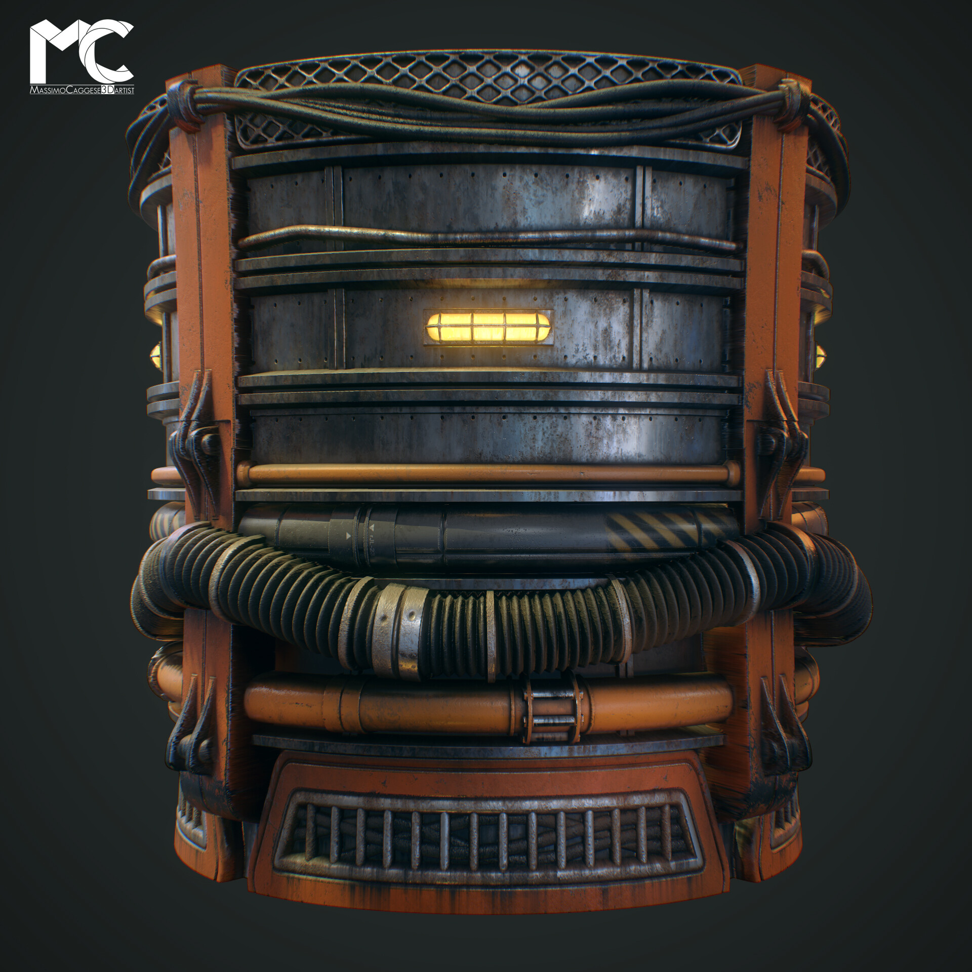 Cylnder view (Marmoset Toolbag 3).