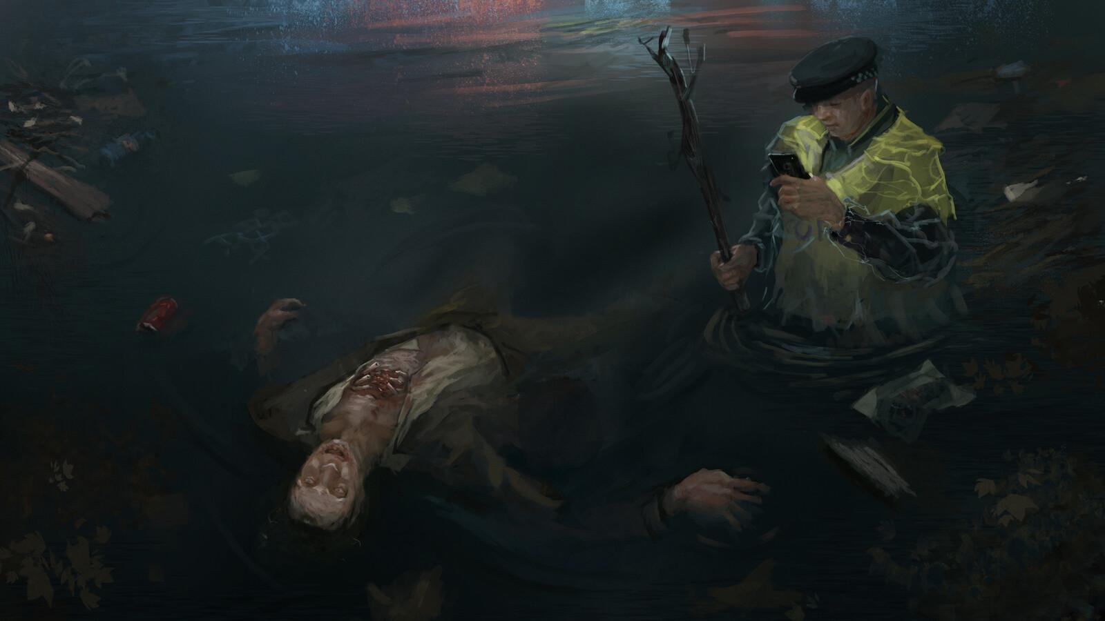 Dead tide - crime scene