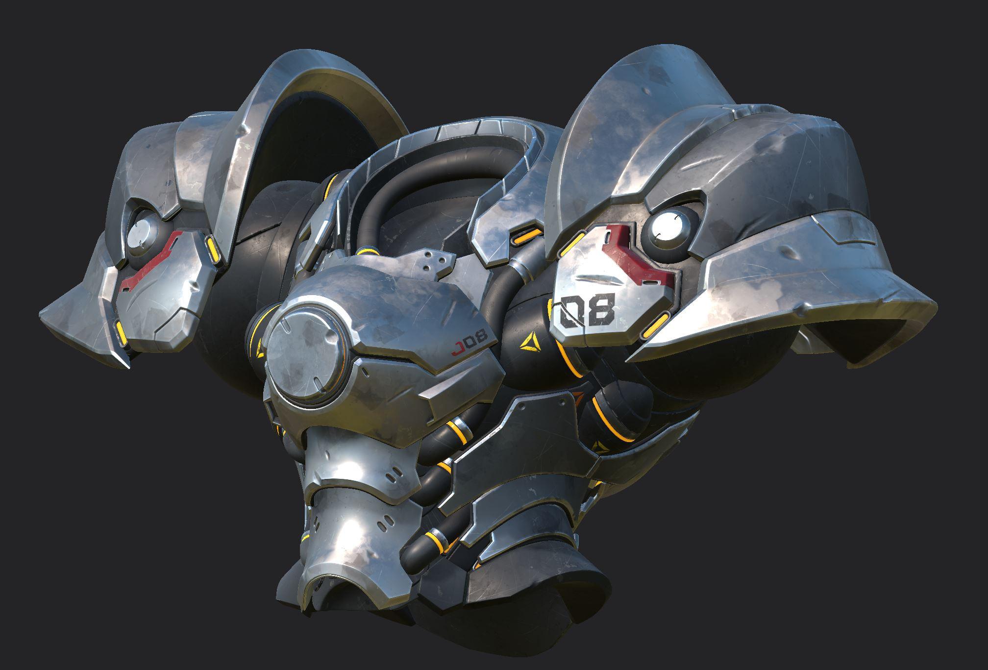 Armor in Substance Painter, 5 UV tiles at 4K each