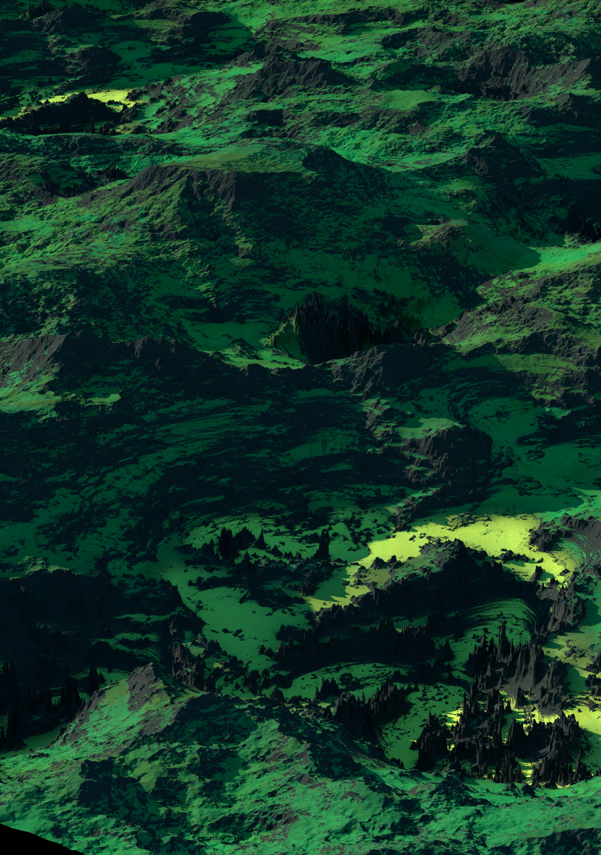 the raw landscape render created with world creator and rendered with octane.
