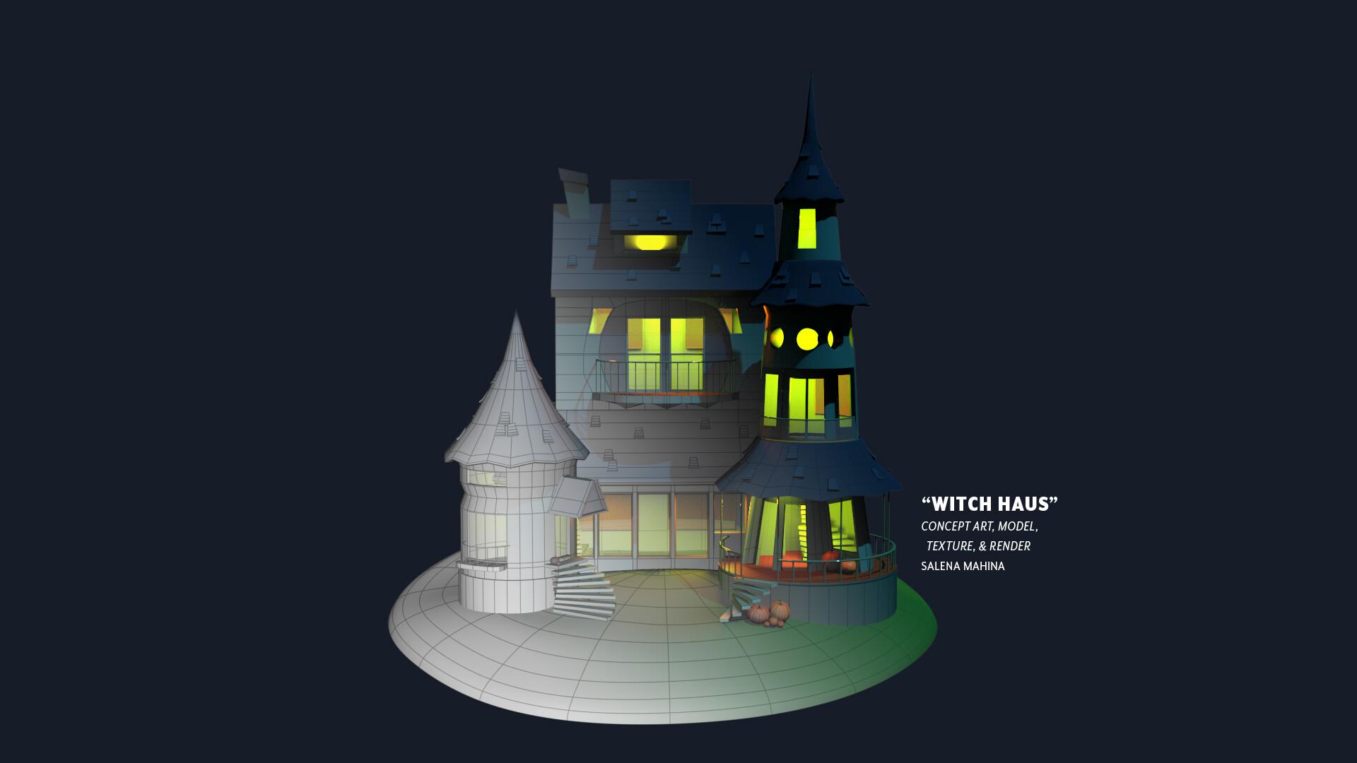 Salena mahina haunted composite house transition