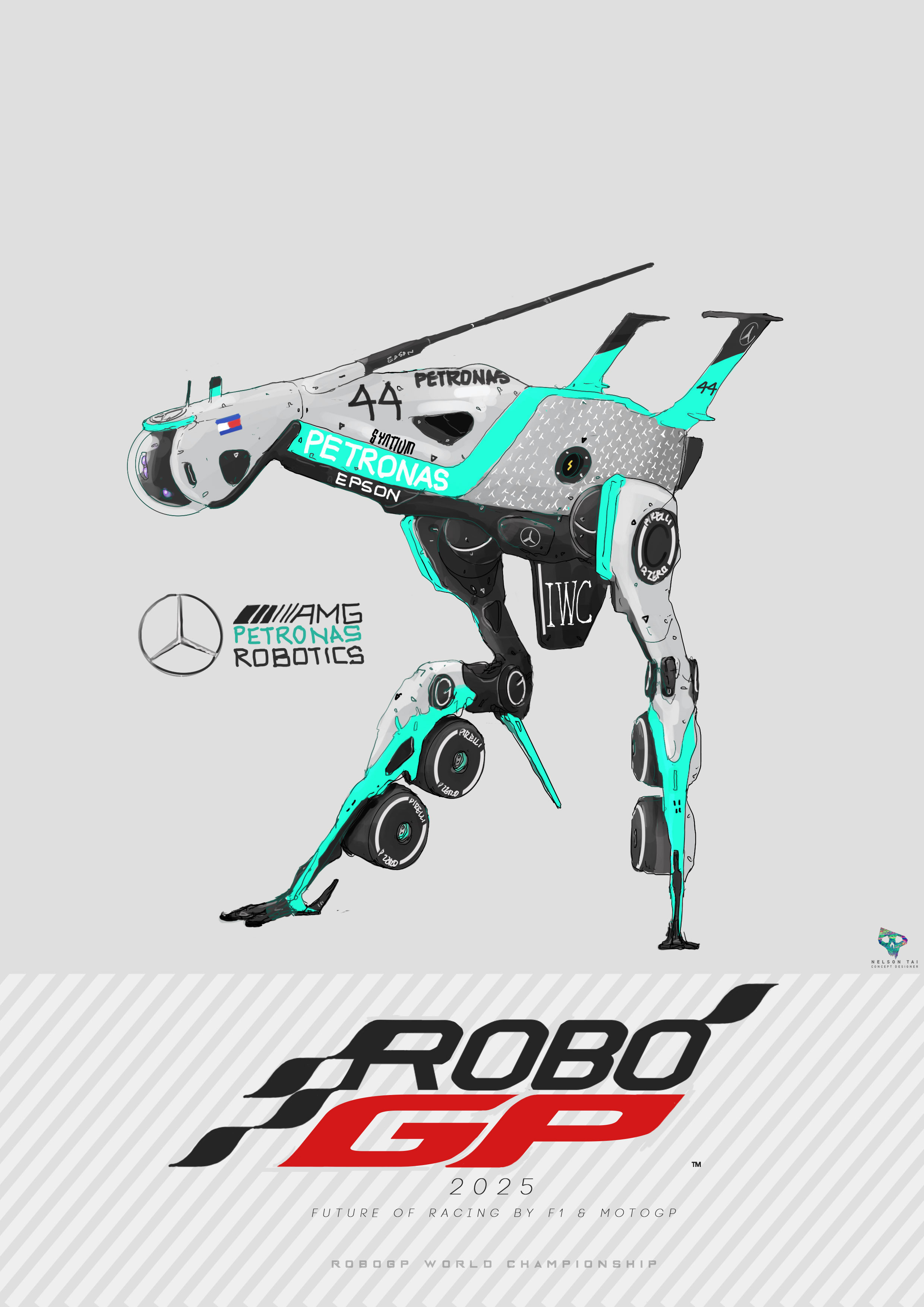 AMG Petronas Robotics | Runs on the data of 6-time World Champion - Lewis Hamilton