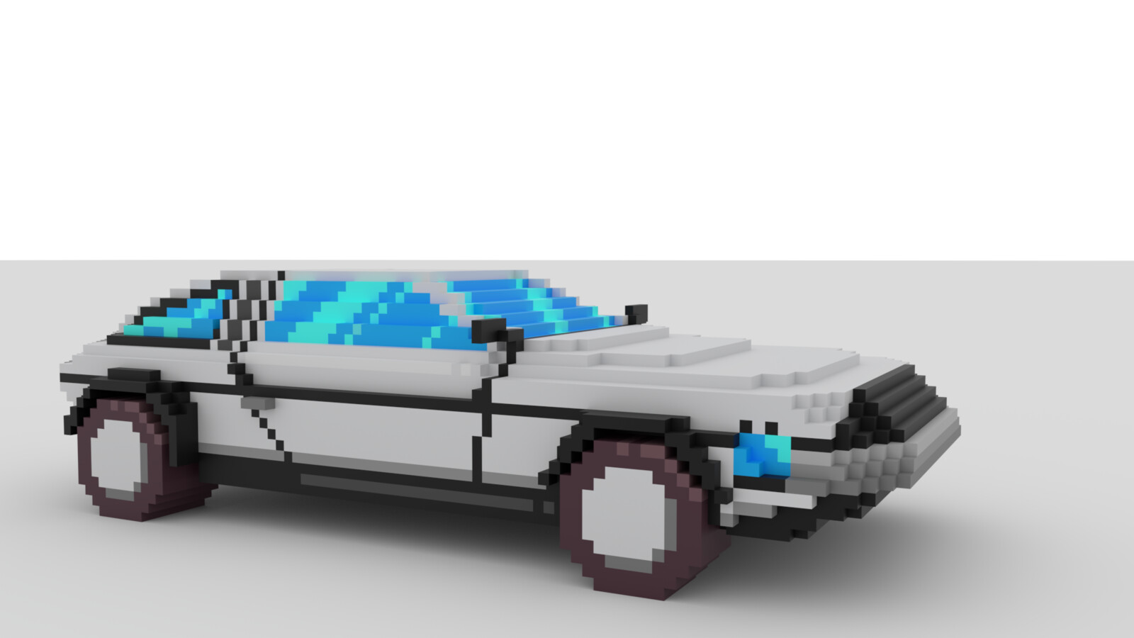 Voxel car made by JD Bethell