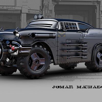 Jomar machado 225 b cyber retro chevy57