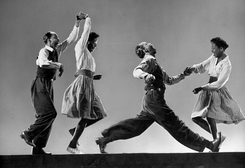 Photo that I referenced! Willa Mae Ricker and Leon James, original Lindy Hop dancers in iconic Life magazine photograph, 1943