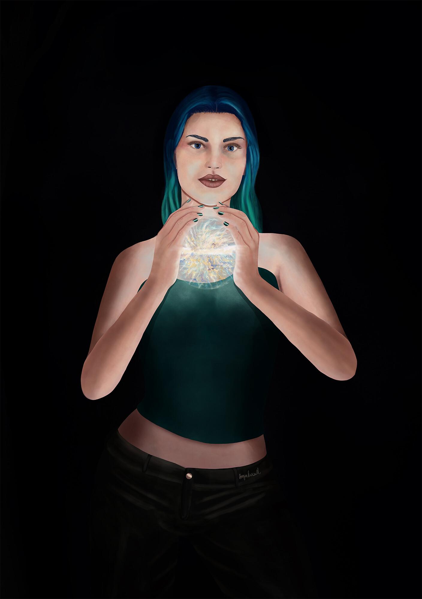 Brinjen russell in her hands web