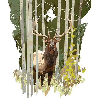 Hugo puzzuoli deer hidden small