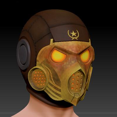 Artstation Scorpion Mask Mortal Kombat X Mkx Kold War Helmet