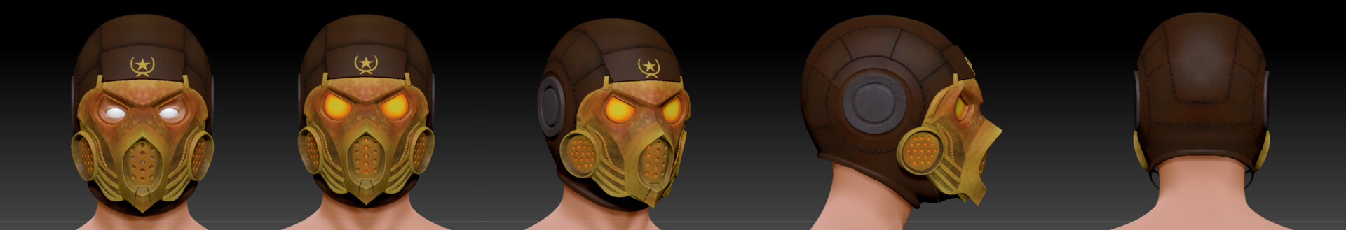 Artstation Scorpion Mask Mortal Kombat X Mkx Kold War Helmet