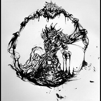 Gabriele crow ink zayar b w