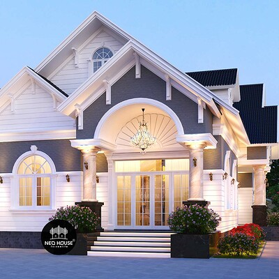 Neohouse architecture biet thu vuon 1 tang tai long an neohouse 1