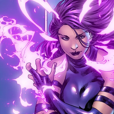 Felipe obando psylocke by matthew weldon colors