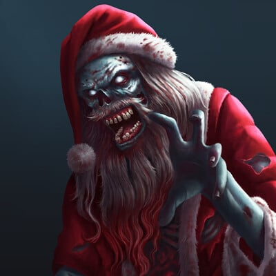 Simon zhong zombie santa