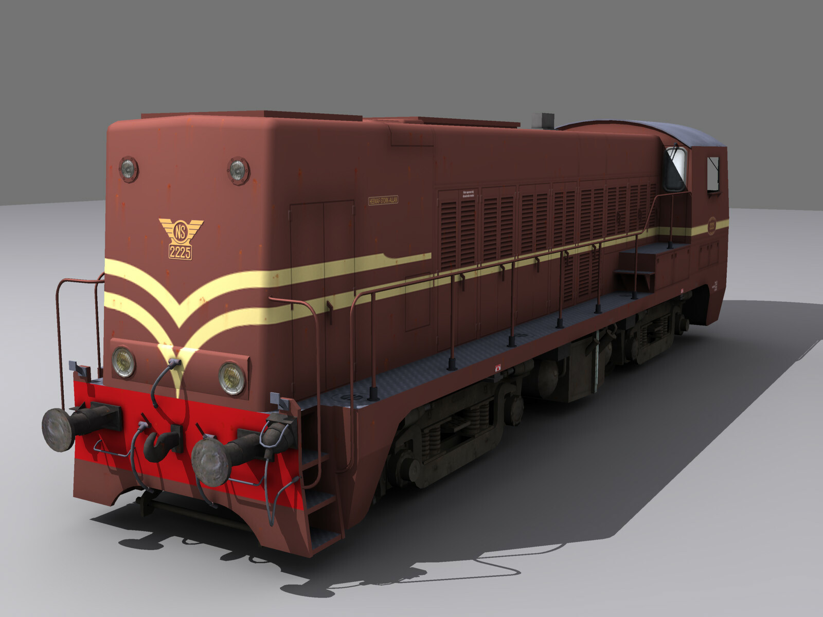 2200 diesel shunter, rendered in 3ds max. Dutch national railways