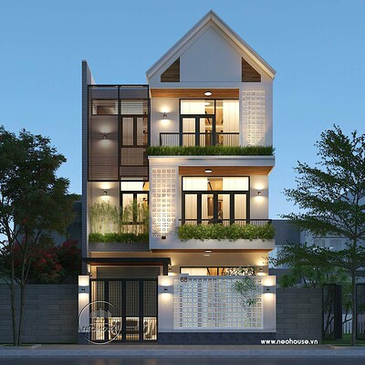 Neohouse architecture biet thu hien dai 3 tang tai khu do thi xua hoa da nang 2