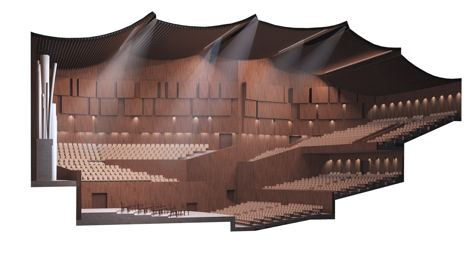 Concert Hall project. Interior. (MArchI, 2013)