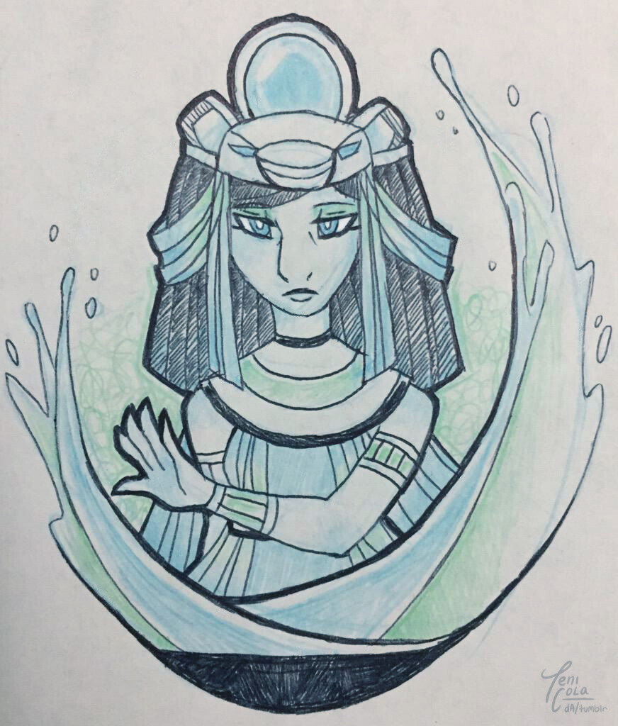 TEFNUT -- The personified Goddess of Moisture and Rain.