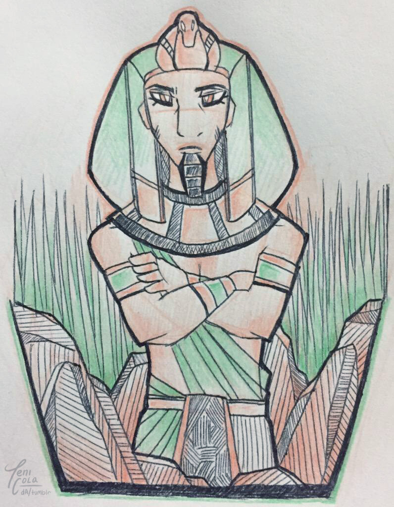 GEB -- The personified God of the Earth and vegetation.