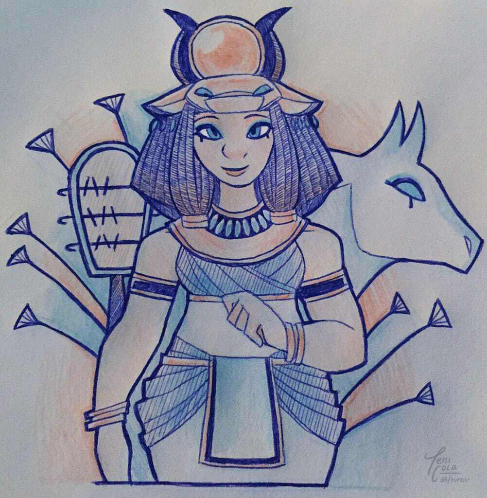 HATHOR -- The Goddess of Love and Beauty, mining, beer, and dance.