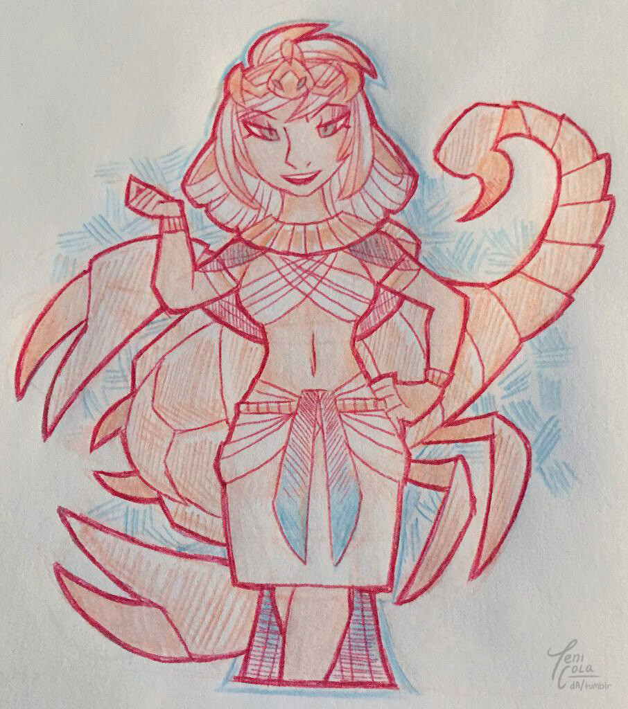 SERQET -- The Goddess of scorpions, medicine, and all manner of poisons and venom.
