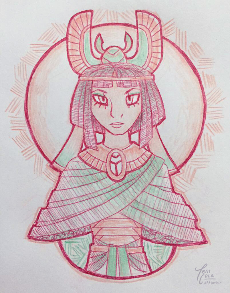 KHEPRI -- The God of Scarabs, the Sunrise, and rebirth.