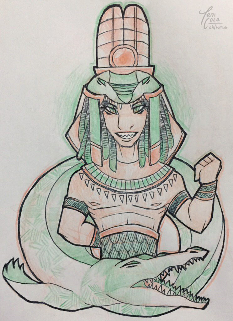SOBEK -- The God of the Nile, warfare, the military, and crocodiles.