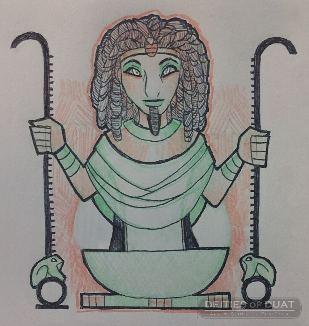 HEH / HAUHET -- The Gods of Infinity and Eternity, and part of the Ogdoad deities.