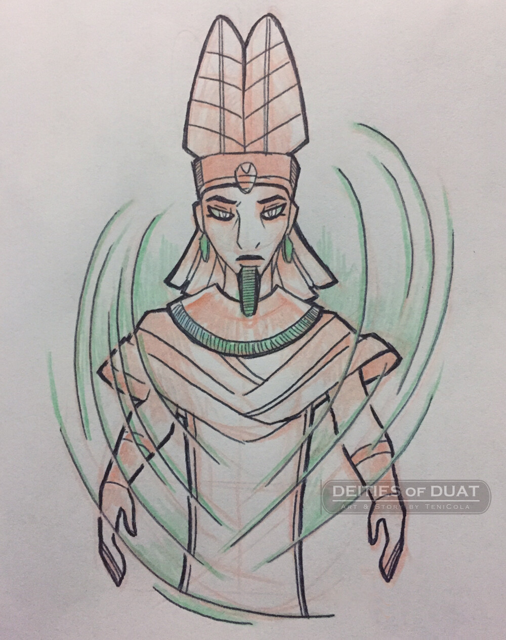 AMUN / AMAUNET -- The Gods of Hiddeness and Invisibility, and part of the Ogdoad deities.
