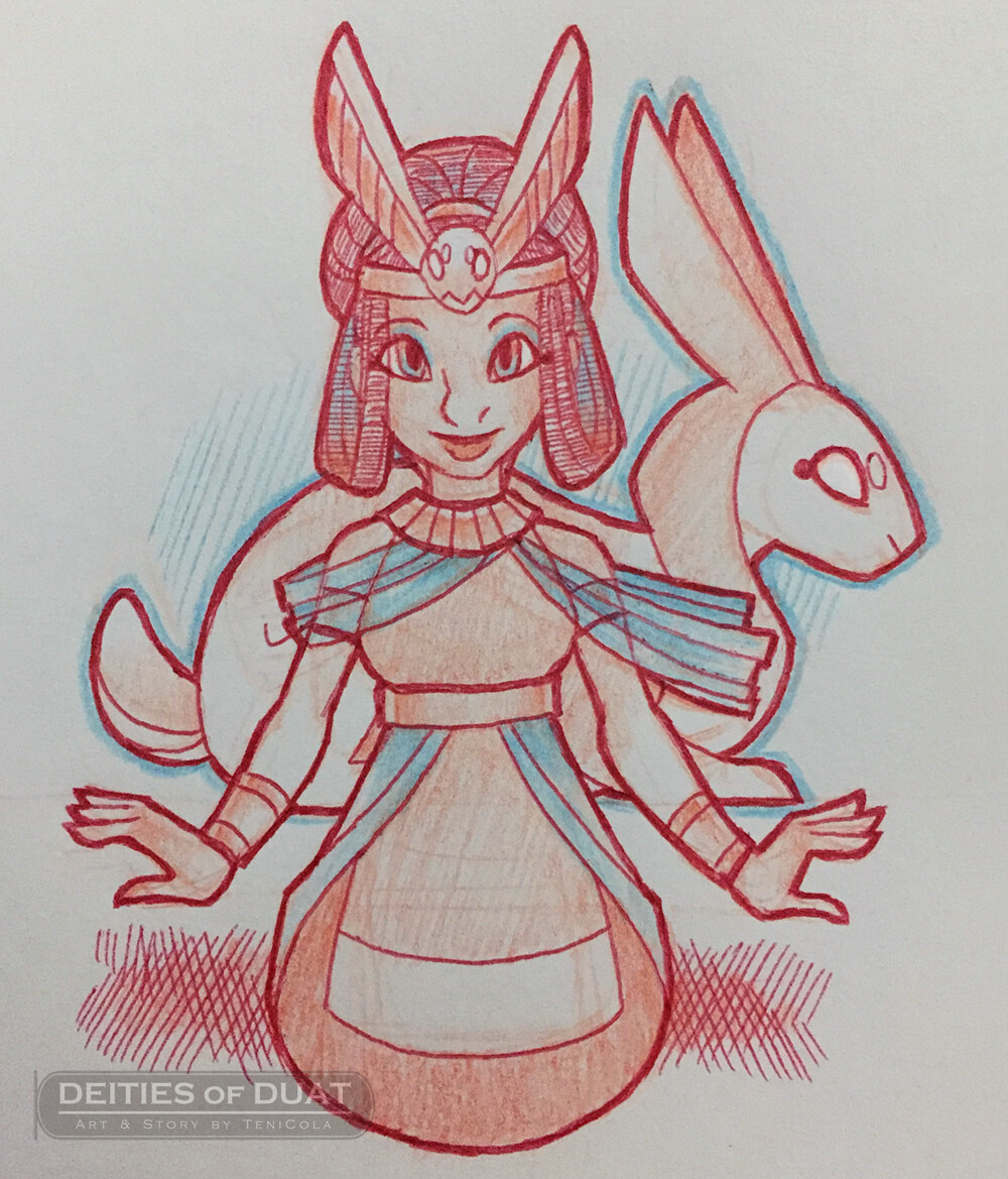 WENUT -- The Goddess of Protection from demons and nightmares.