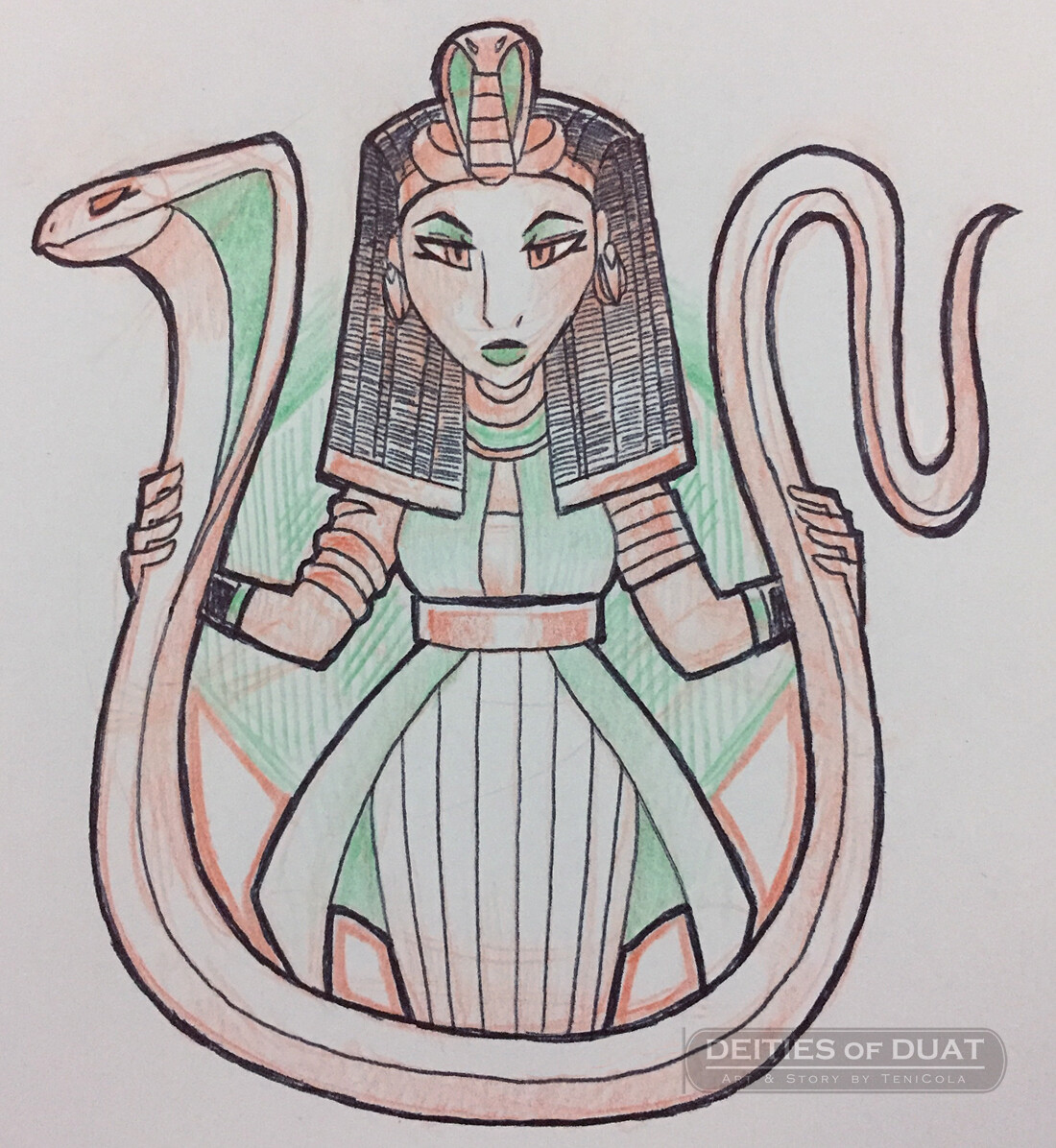 RENENUTET -- The Goddess of fertility, nursing, and prosperity.