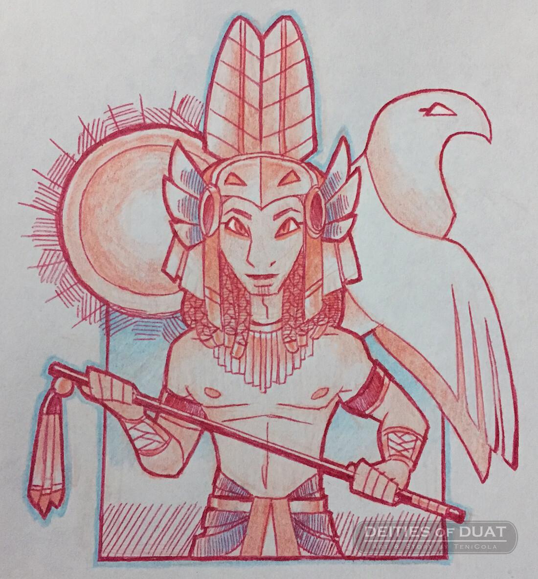 MONTU -- The God of Warfare and victory.