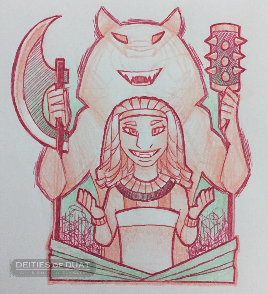 MAAHES -- The God of War and Protection.