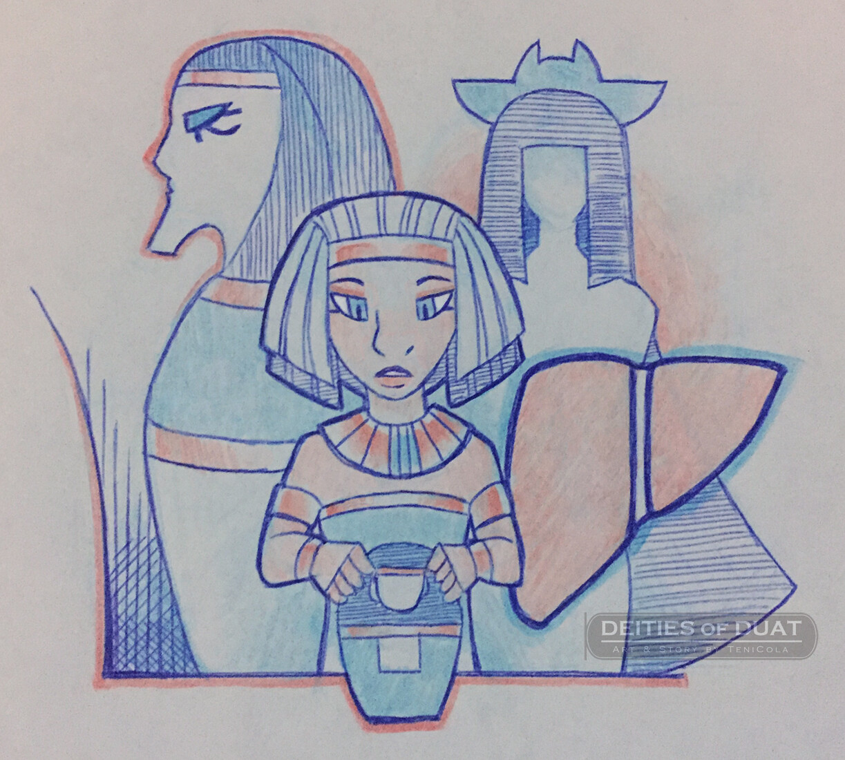 IMSETY -- One of the Four Sons of Horus, who guards the liver and represents the South.