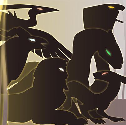 Teniola coker divine creatures silhouette banner