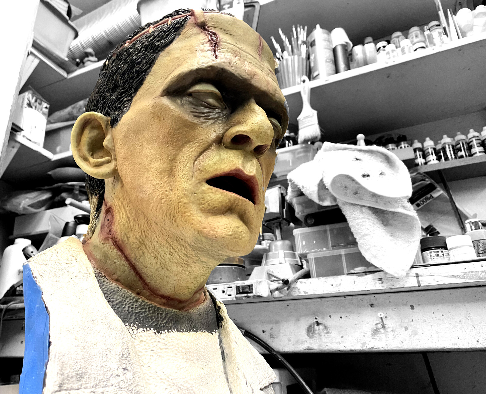 Frankenstein Life-Size Bust W.I.P