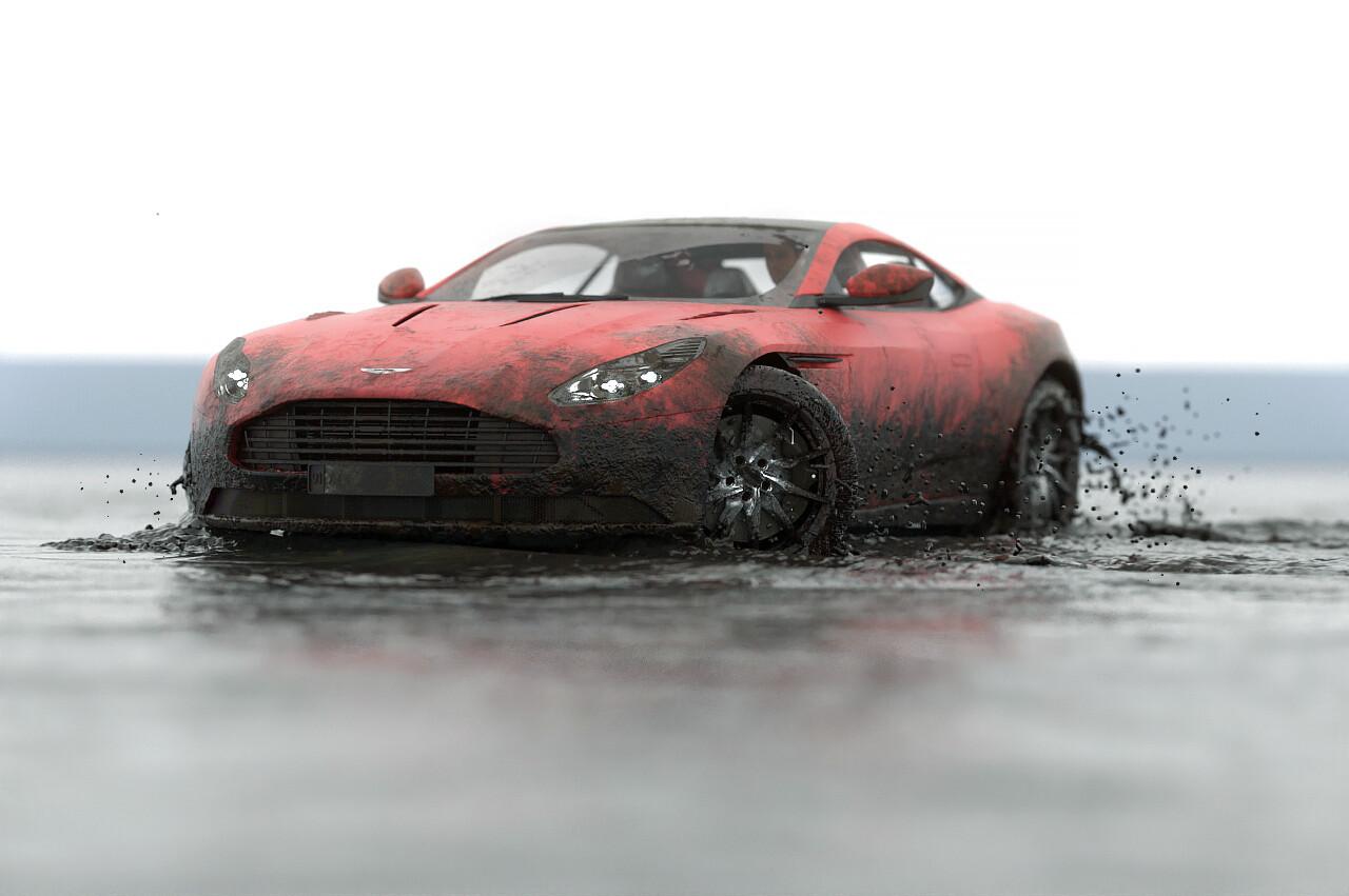Alireza Belon Aston Martin Db11 Vs Muddy Water