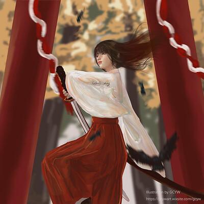 Gechunyi wang miko by gcyw art 2019 dec