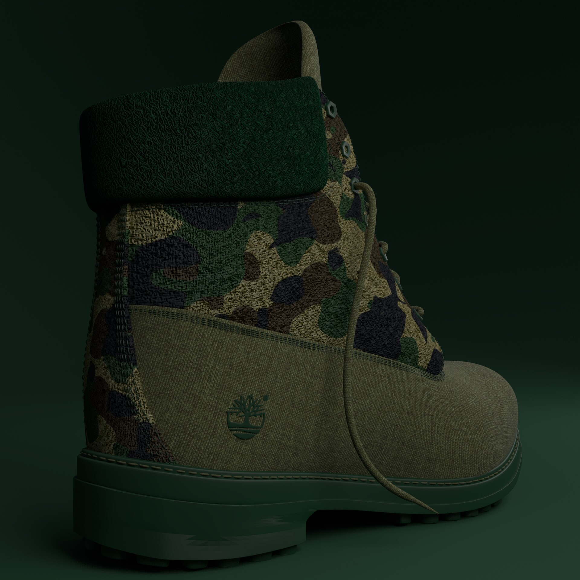 Camouflage Timberland boots , Akinrinde