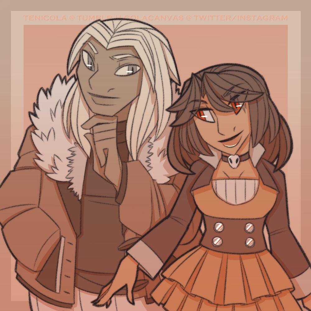 Kondwani (Midday Lycanroc) and Amber (Houndoom)