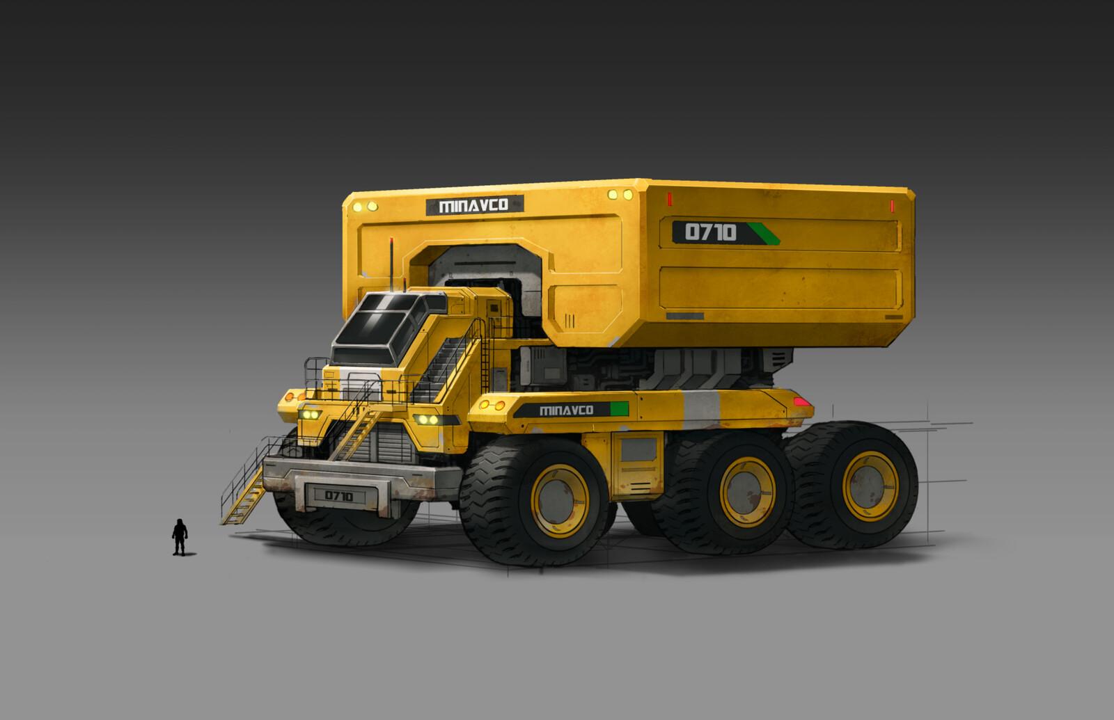 Sci-fi Haul Truck