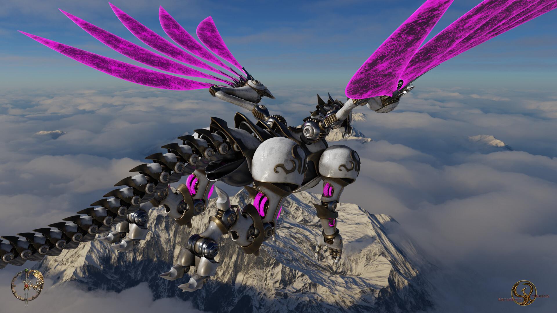 Arcadeous phoenix cw dragon1 wallpaper