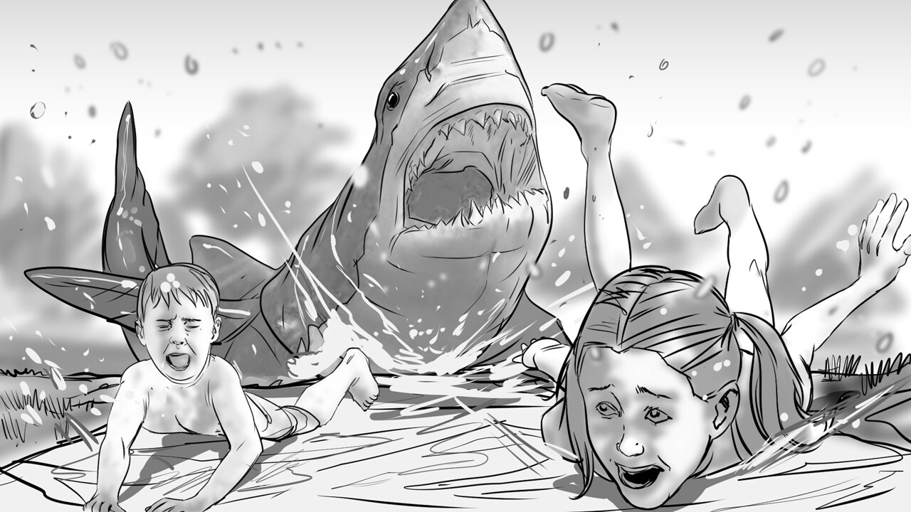 Shark Week // pitch art