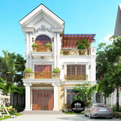 Neohouse architecture biet thu ban co dien cao cap tai thao dien 1