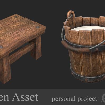 Alla belykh wooden asset