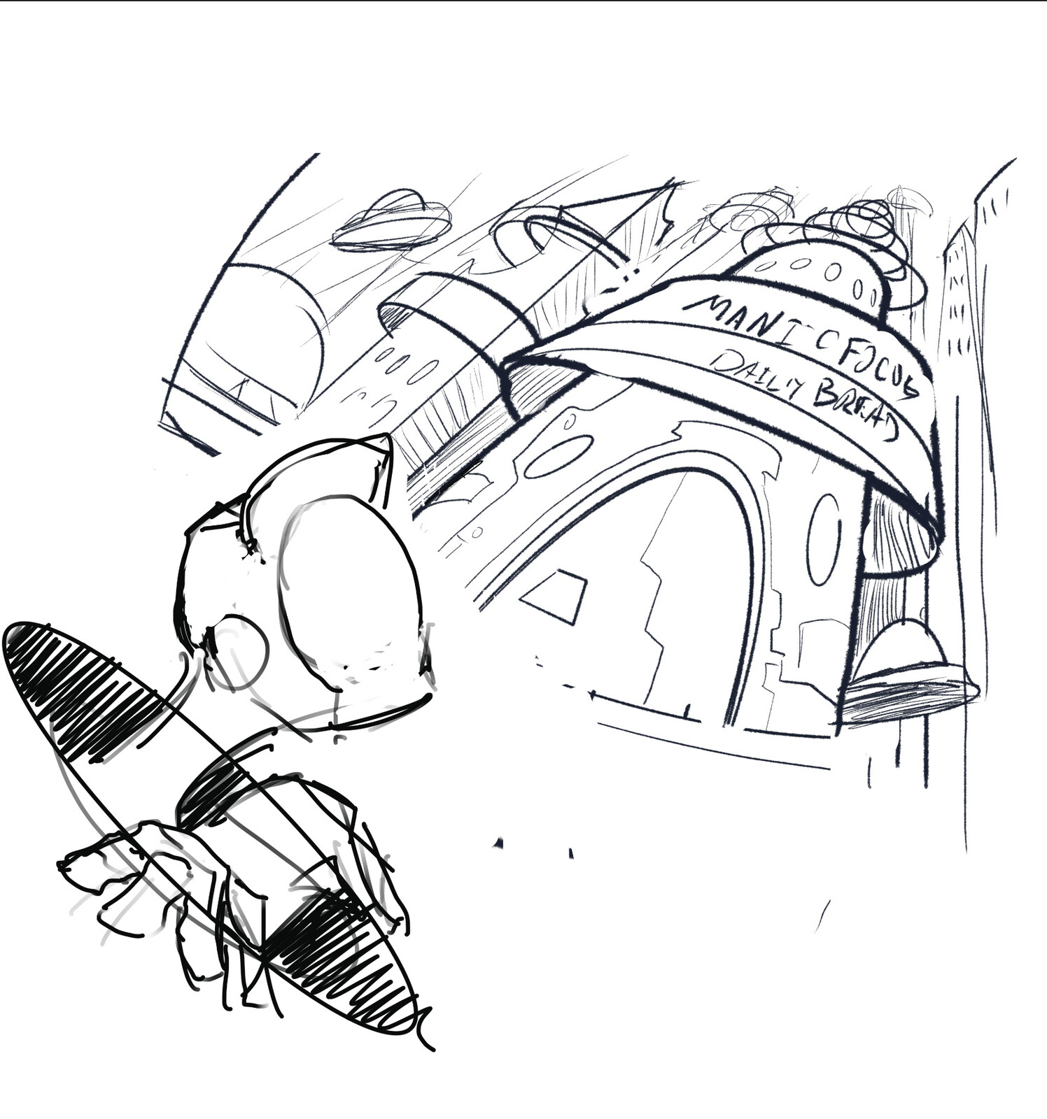 Concept sketch for pitch