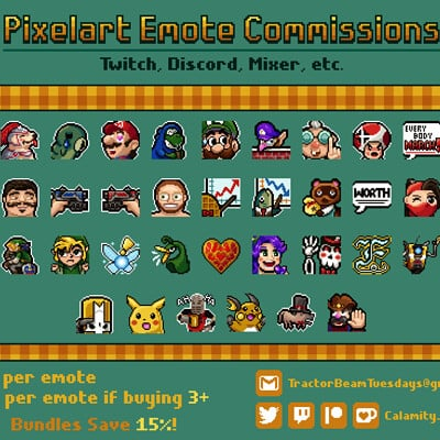 Pixelart Emote Commissions