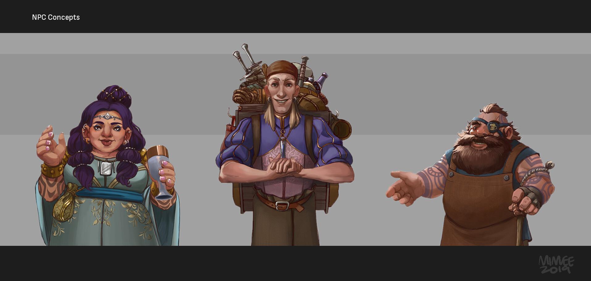 A noble, a merchant, and an innkeeper.