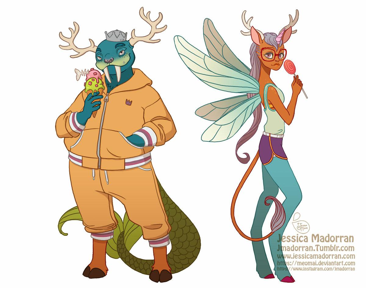 Jessica madorran character design funko inspired monsters 2019 artstation01