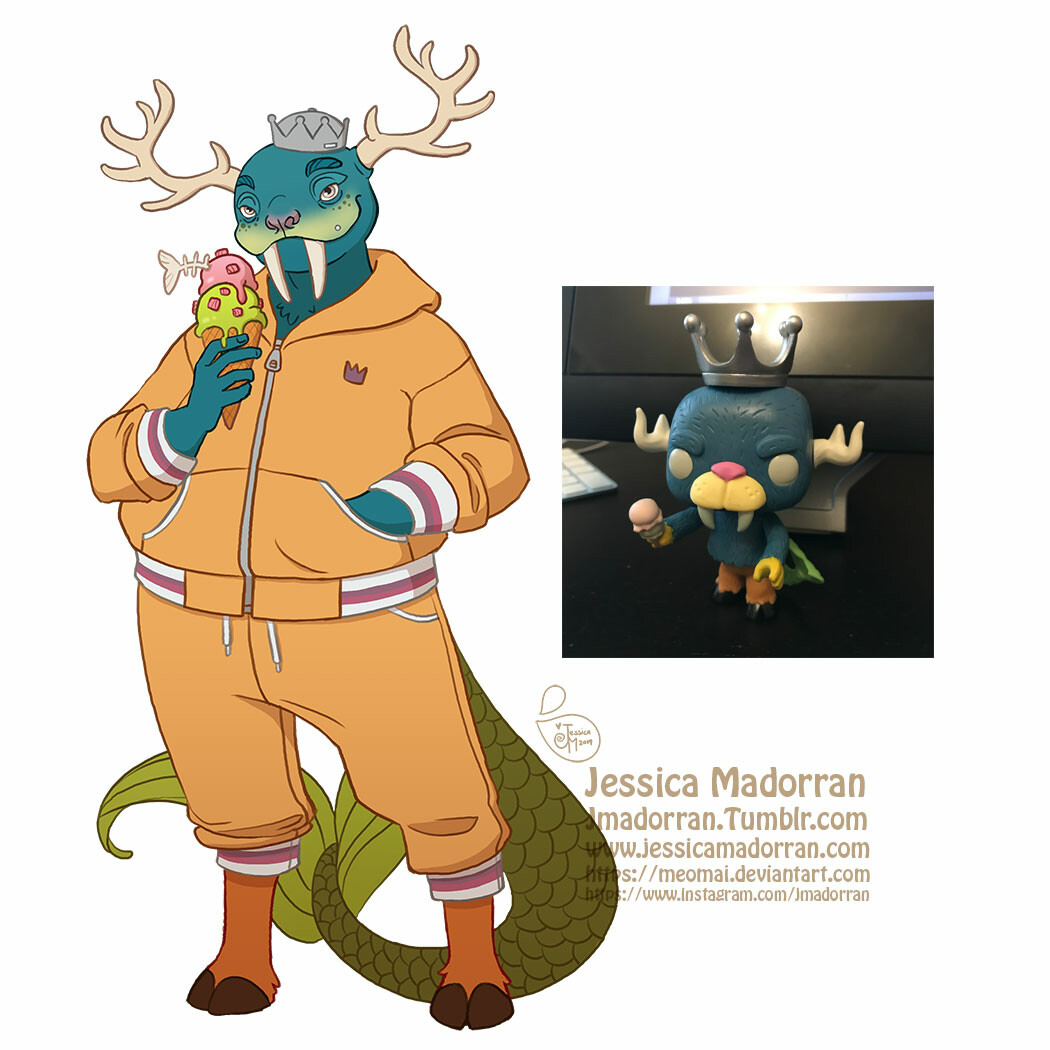 Jessica madorran character design funko inspired monsters 2019 artstation03