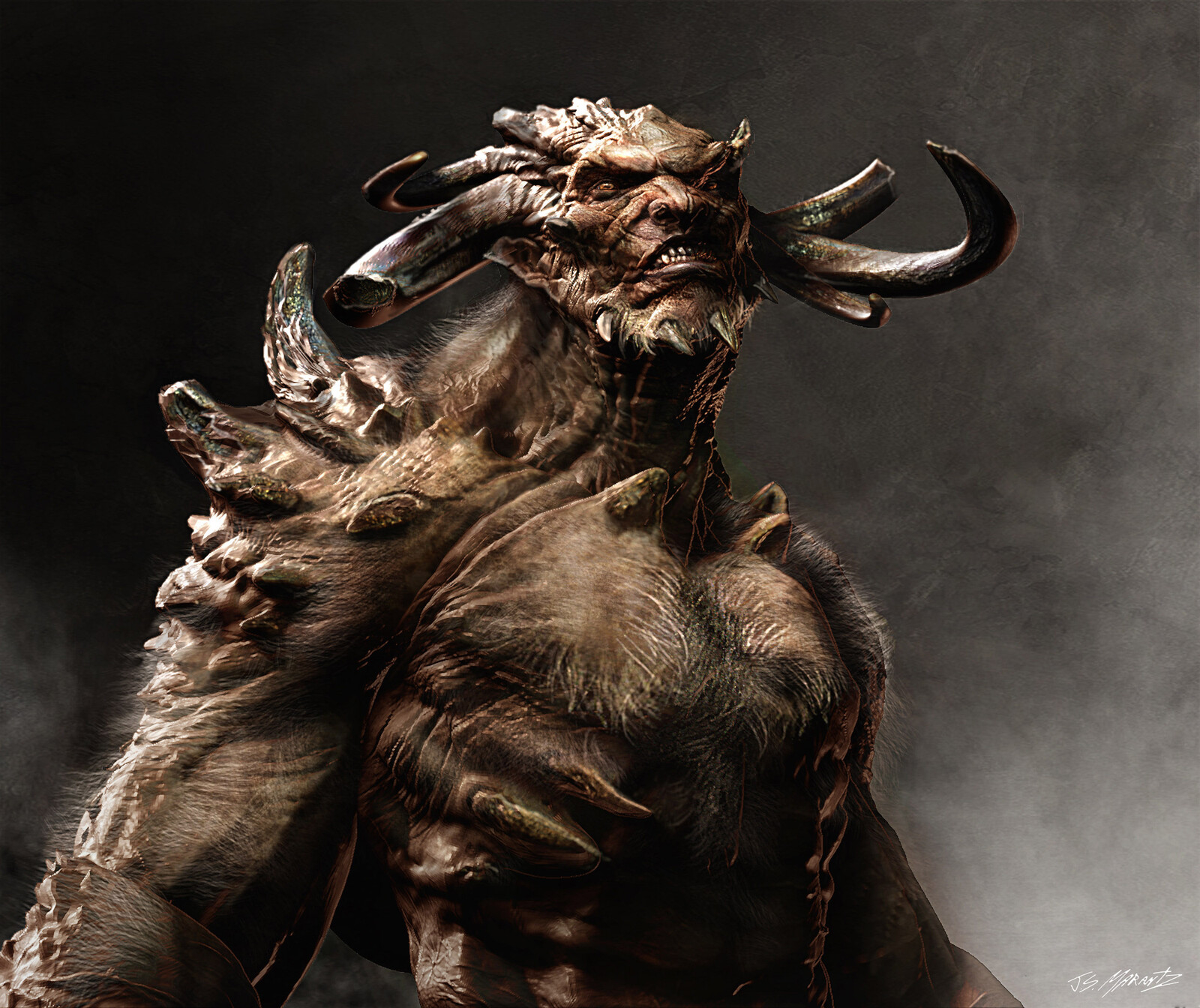 Wrath of the Titans Minotaur and Cyclops Concepts